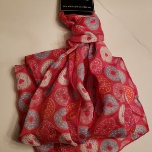 Nwt Pink +Red Donut Scarf